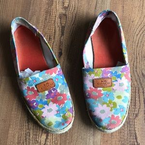 COACH flowers print loafer flats